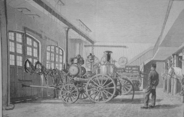 Brandweerwagen oude foto